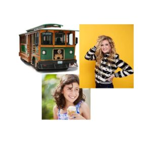 Family Comedy Trolley Tour (with ice cream) @ Pick up/drop off at Shoreline Park